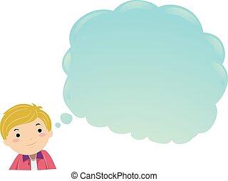 teenager, guy, illustration, sky, stickman, tænkning