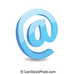 tegn, illustration, vektor, email, 3