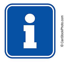 tegn, information, turist