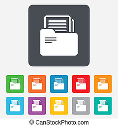 tegn., symbol., springbind, bogholderi, brochuren, dokument