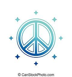 tegn, vektor, fred