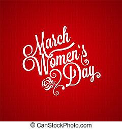 tekstning, marts, vinhøst, baggrund, dag, kvinder