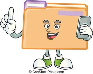 telefon, sparepenge, brochuren, dokument, fil