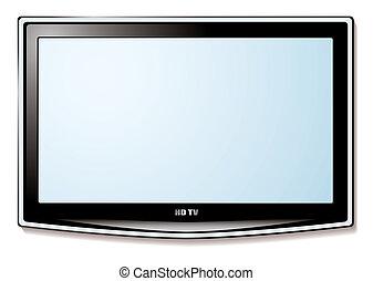 television, lcd, hvid skærm