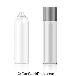template., hvid, sølv, flaske, forstøvningssprøjten
