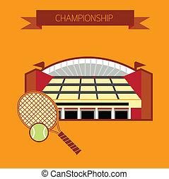 tennis, stadion, mesterskab