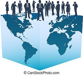 terning, folk branche, globale, verden, ressourcer