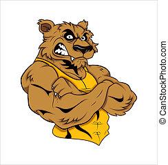 tiger, tatovering, vektor, mascot