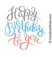til lykke med fødselsdagen, original, hånd, tekstning