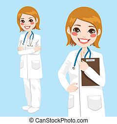 tillidsfuld, doktor kvinde