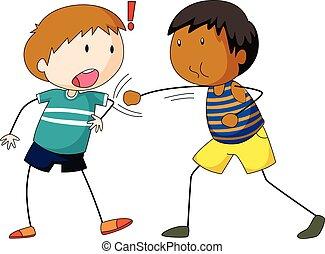 to drenge, punching, finder