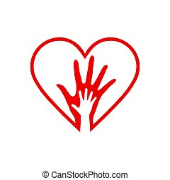 to, hjerte, hænder