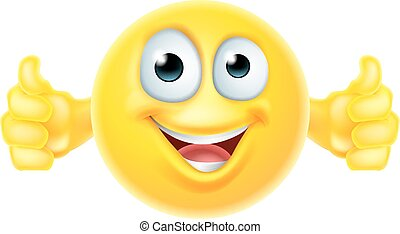 tommelfingre oppe, smiley, emoji
