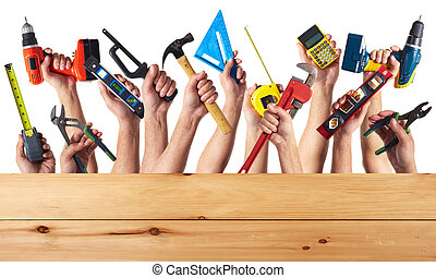 tools., diy., hænder