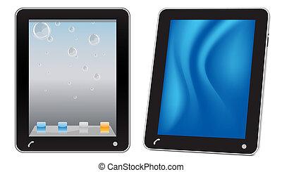 touchscreen, computer, tablet