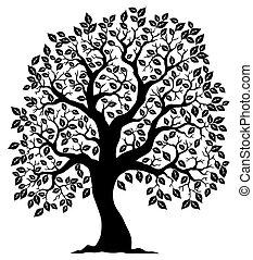 træ 3, silhuet, formet