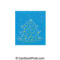 træ christmas, abstrakt