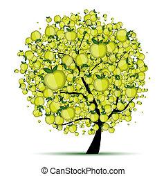 træ, din, æble, konstruktion, energi