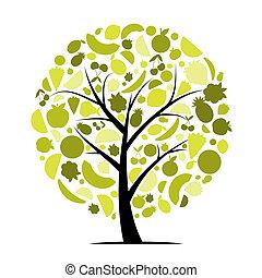 træ, din, frugt, konstruktion, energi