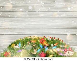 træ, eps, jul, snow., 10