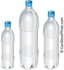 træ, flasker, plastik