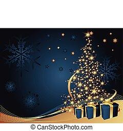 træ, jul, baggrund