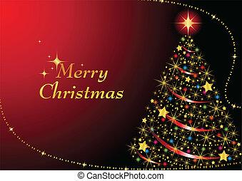 træ, jul, gnistr