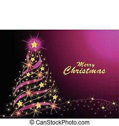 træ, jul, lysende