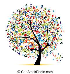 træ, konstruktion, din, digitale