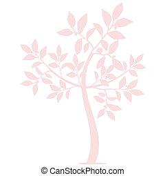 træ, kunst, silhuet