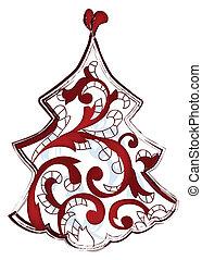 træ, kunstneriske, jul