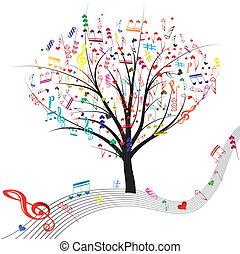 træ., musik