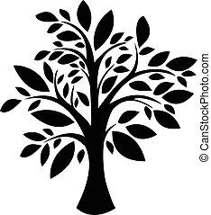 træ, silhuet