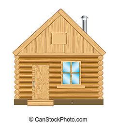 træagtigt hus