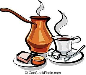 traditionelle, tyrkisk kaffe