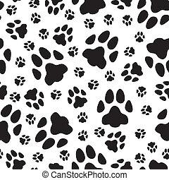 trails, katte, seamless, mønster