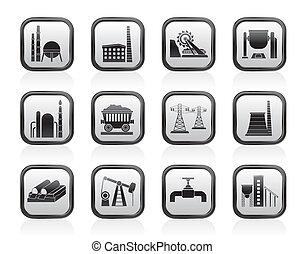 tung, industri, iconerne