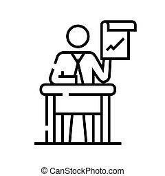 udkast, beklæde, vektor, tegn, illustration, rådgivende, lineære, symbol., begreb, ikon