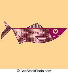 udkast, linje kunst, firmanavnet, fish, illustration