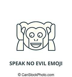 udkast, nej, begreb, symbol, onde, emoji, tegn, vektor, ikon, beklæde, tal, lineære