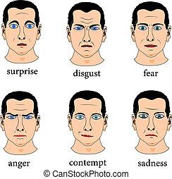 udtryk, facial