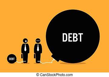 uhyre, folk, anden, debt., overrask, mand