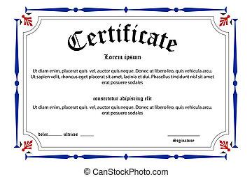 undervisning, certifikat
