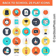 undervisning, iconerne