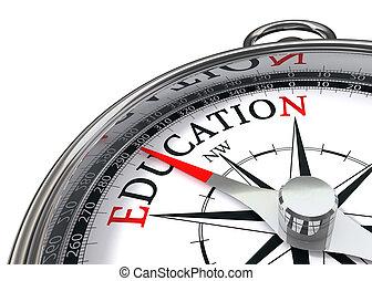 undervisning, kompas