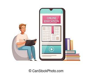 undervisning, online, komposition