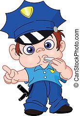 unge, betjenten