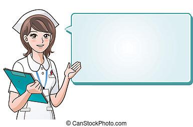 unge, cute, informat, forsyn, sygeplejerske