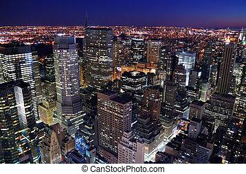 urban skyline, antenne, city udsigt