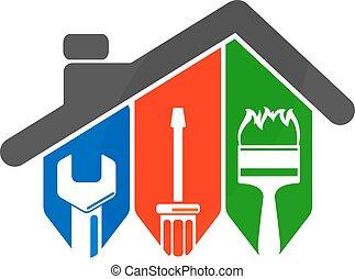 værktøj, reparer, hjem